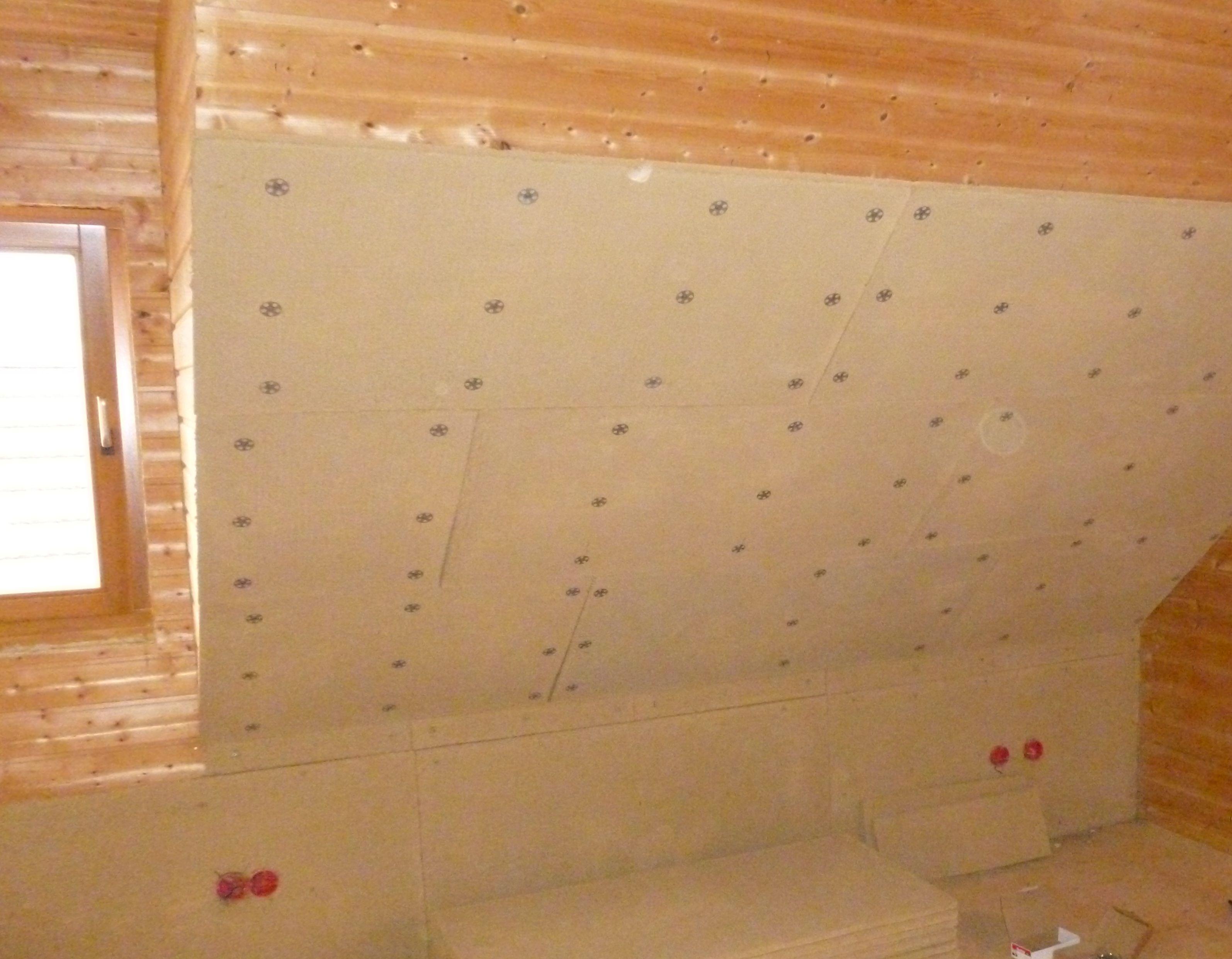 Fabulous Lehmbauplatte auf Holzwand geschraubt JX98